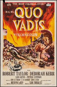 "Quo Vadis (MGM, 1951). One Sheet (27"" X 41""). Historical Drama"