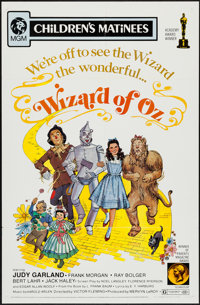 """The Wizard of Oz (MGM, R-1972). One Sheet (27"""" X 41"""") Children's Matinee Style. Fantasy"""