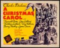 "Movie Posters:Drama, A Christmas Carol (MGM, 1938). Title Lobby Card (11"" X 14"").Drama.. ..."