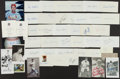 Autographs:Index Cards, Baseball Stars Signed Index Cards And Postcards Lot Of 45+...
