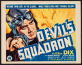 "Movie Posters:War, Devil's Squadron (Columbia, 1936). Title Lobby Card (11"" X 14"").War.. ..."