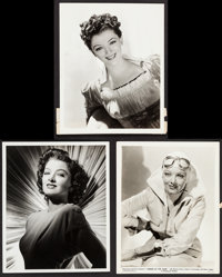 """Myrna Loy in The Thin Man Goes Home by Eric Carpenter & Others Lot (MGM, 1945). Portrait Photos (3) (8"""" X 1..."""