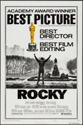 "Movie Posters:Academy Award Winners, Rocky (United Artists, 1977). One Sheet (27"" X 41"") & Lobby Cards (7) (11"" X 14"") Academy Awards Style B. Academy Award Winn... (Total: 8 Items)"