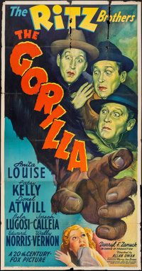 "The Gorilla (20th Century Fox, 1939). Three Sheet (41"" X 79""). Comedy"