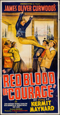 """Movie Posters:Western, Red Blood of Courage (Ambassador Pictures, 1935). Three Sheet (41"""" X 81""""). Western.. ..."""