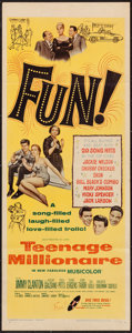 "Movie Posters:Rock and Roll, Teenage Millionaire (United Artists, 1961). Insert (14"" X 36"").Rock and Roll.. ..."