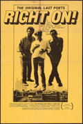 "Movie Posters:Black Films, Right On! (Leacock-Pennebaker, 1971). One Sheet (25"" X 38""). BlackFilms.. ..."