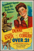 """Movie Posters:Comedy, Over 21 (Columbia, 1945). One Sheet (27"""" X 41"""") & Lobby Cards (4) (11"""" X 14"""") Style A. Comedy.. ... (Total: 5 Items)"""