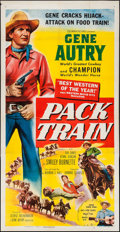 "Movie Posters:Western, Pack Train (Columbia, 1953). Three Sheet (41"" X 79""). Western.. ..."