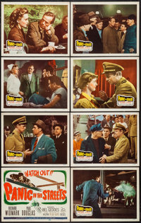 """Panic in the Streets (20th Century Fox, 1950). Lobby Card Set of 8 (11"""" X 14""""). Film Noir. ... (Total: 8 Items..."""