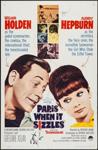 "Paris When It Sizzles (Paramount, 1964). One Sheet (27"" X 41"") & Lobby Cards (3) (11"" X 14"")..."