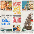 "Movie Posters:Adventure, Mutiny on the Bounty (MGM, 1962). Six Sheet (83"" X 83"").Adventure.. ..."