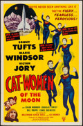 "Movie Posters:Science Fiction, Cat-Women of the Moon (Astor Pictures, 1954). One Sheet (27"" X41""). Science Fiction.. ..."