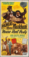 "Movie Posters:Black Films, House Rent Party (Toddy Pictures, 1946). Three Sheet (41"" X 80"").Black Films.. ..."
