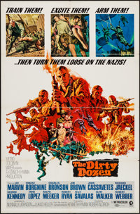 """The Dirty Dozen & Others Lot (MGM, 1967). One Sheets (2) (27"""" X 41""""), Special One Sheet (27"""" X 40..."""