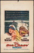 "Movie Posters:War, The Sea Chase (Warner Brothers, 1955). Window Card (14"" X 22"").War.. ..."