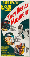 "Movie Posters:War, Piccadilly Incident (MGM, 1949). Three Sheet (41"" X 78"") AlternateTitle: They Met at Midnight. War.. ..."