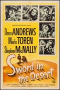 "Movie Posters:War, Sword in the Desert (Universal International, 1949). One Sheet (27""X 41"") & Three Sheet (41"" X 79""). War.. ... (Total: 2 Items)"