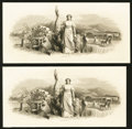 Miscellaneous:Other, Pair of Panoramic Die Proof Vignettes Engraved by James Smillie.... (Total: 2 vignettes)