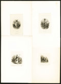 Miscellaneous:Other, Group of Die Proof Vignettes depicting Agricultural Scenes FifteenItems.. ... (Total: 14 vignettes)