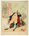 Books:Prints & Leaves, James Gillray (English caricaturist, 1756-1815). Original HandColored Engraving Entitled, A Voluptuary Under the Horror...