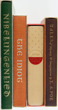 Books:Fine Press & Book Arts, [Literature, Heritage Press]. Group of Four Volumes. Includes:Ovid. Metamorphoses. [1961]. Illustrated by Hans ... (Total:4 Items)