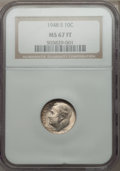 Roosevelt Dimes: , 1948-S 10C MS67 Full Bands NGC. NGC Census: (111/5). PCGS Population (88/1). Mintage: 35,520,000. Numismedia Wsl. Price for...