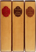 Books:Fine Press & Book Arts, William Shakespeare. The Heritage Press Shakespeare in ThreeVolumes, including: The Comedies, The Tragedies, and ...(Total: 3 Items)