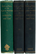 Books:Americana & American History, [Slavery]. Henry Wilson. Rise and Fall of the Slave Power inAmerica, Vols. I-III. Vol. I: Boston: James R. Osgo...(Total: 3 Items)