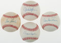 Autographs:Baseballs, Hall Of Pitchers Single Signed Baseballs Lot Of 4. ...