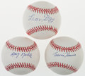 Autographs:Baseballs, Negro League Greats Single Signed Baseballs Lot Of 3. ...