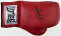Boxing Collectibles:Autographs, Joe Frazier Signed Boxing Glove - With Case....