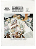 "Original Comic Art:Splash Pages, Al Jaffee - Mad #292 Fold-In Back Cover Original Art (EC, 1990). AlJaffee's fold-in asks ""What do we fear will be the Bush ..."