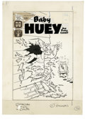 Original Comic Art:Covers, Warren Kremer (attributed) - Baby Huey, the Giant Baby #70 CoverOriginal Art (Harvey, 1966). Nothing stands between Baby Hu...
