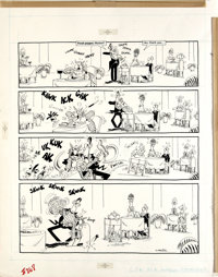 """Don Martin - Mad #268 Page Original Art, Group of 3 (EC, 1987). One fine group of Don Martin one pagers, including """"..."""