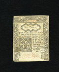 Colonial Notes:Connecticut, Connecticut June 19, 1776 6d New, CC. Here is a bright cutcancelled note with red ink penmanship. An approximate quarterin...