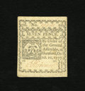 Colonial Notes:Connecticut, Connecticut October 11, 1777 7d White Paper Note Choice About New.A minor corner fold is all that keeps this attractive and...