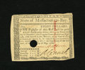 Colonial Notes:Massachusetts, Massachusetts May 5, 1780 $8 Choice New. An uneven cut in the lowerright corner is all that keeps this broadly margined and...