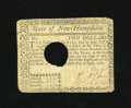 Colonial Notes:New Hampshire, New Hampshire April 29, 1780 $2 Very Fine. This New Hampshire noteis cancelled with the usual quarter sized hole and which ...