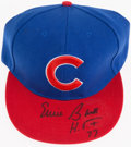 Baseball Collectibles:Hats, Ernie Banks Signed Chicago Cubs Cap....