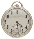 Timepieces:Pocket (post 1900), Hamilton 14k Gold 19 Jewel Series 902 Pocket Watch. ...