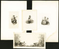 Miscellaneous:Other, Group of Die Proof Vignettes Engraved by William Rice and RobertBrandard Ten Items.. ... (Total: 10 vignettes)