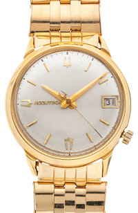 Accutron 18k Gold Case With A 14k Gold Band Wristwatch