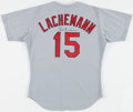 Baseball Collectibles:Uniforms, 1998 Rene Lachemann Game Worn, Signed St. Louis Cardinals Jersey - With Team LOA....
