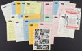 Boxing Collectibles:Memorabilia, 1964 Sonny Liston Vs. Cassius Clay Promotional Press Packet....