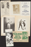 Boxing Collectibles:Memorabilia, Vintage Boxing Pamphlets, Photographs and Promotional Pieces Lot of 7. ...