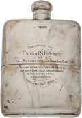 Golf Collectibles:Miscellaneous, 1904 Sterling Silver Presentation Flask From Royal County Down Golf Club....