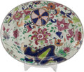 Asian:China Trade, A CHINESE EXPORT PORCELAIN TOBACCO LEAF PATTERN MEAT PLATTER. 17 inches high x 13-1/2 inches wide (43.2 x 34.3 c...