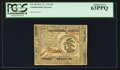 Colonial Notes:Continental Congress Issues, Continental Currency February 17, 1776 $3 PCGS Choice New 63PPQ.....