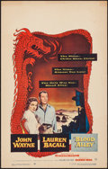 """Movie Posters:Action, Blood Alley (Warner Brothers, 1955). Window Card (14"""" X 22"""").Action.. ..."""